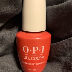 New OPI Gel Nail color in My address is Hollywood